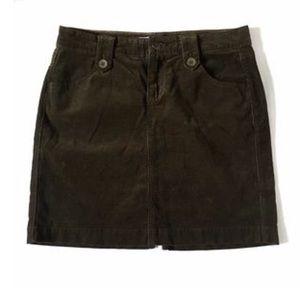 Olive Corduroy Skirt Old Navy
